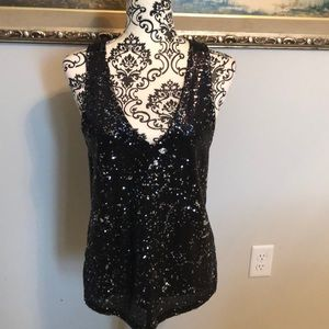 BB Dakota Deep-V Sequin Tank